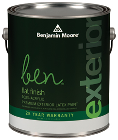 BEN® WATERBORNE EXTERIOR FLAT FINISH (541)